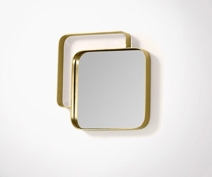 Petit miroir dor en laiton et m tal top design super for Miroir petit