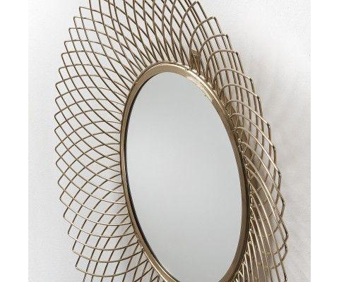Miroir métal laiton doré BEMINE - 65cm