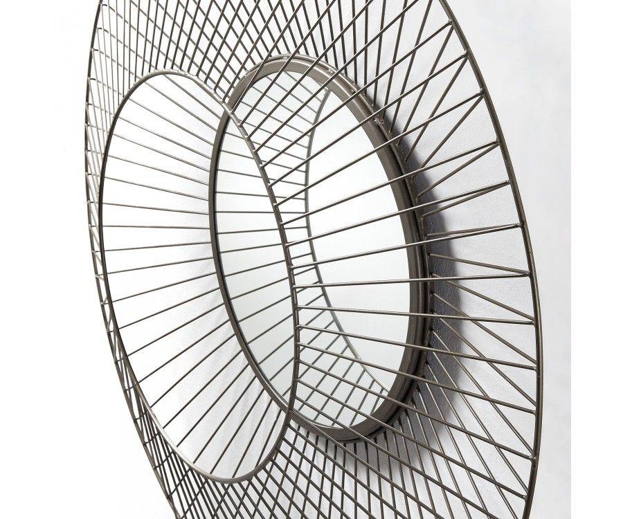 miroir arrondi en m tal et zinc design original exclusivit web. Black Bedroom Furniture Sets. Home Design Ideas