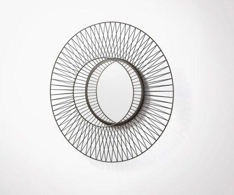 BEYOU metal design round mirror - 65cm