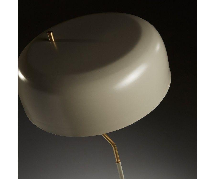Lampadaire design métal beige VERSEAU