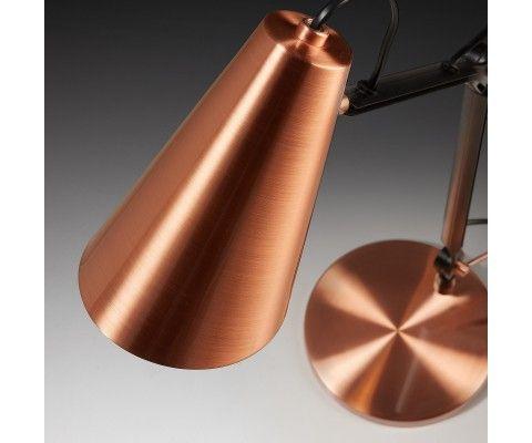 Lampe de bureau métal cuivre LAO