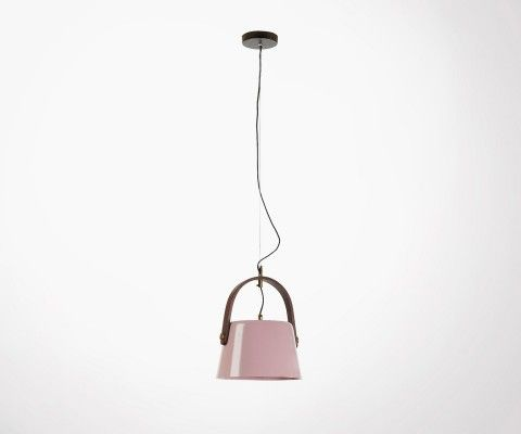 ZAYNA pink metal ceiling light