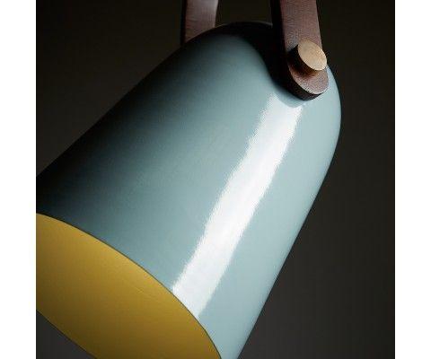 Lampe suspendue métal bleu clair RESNO