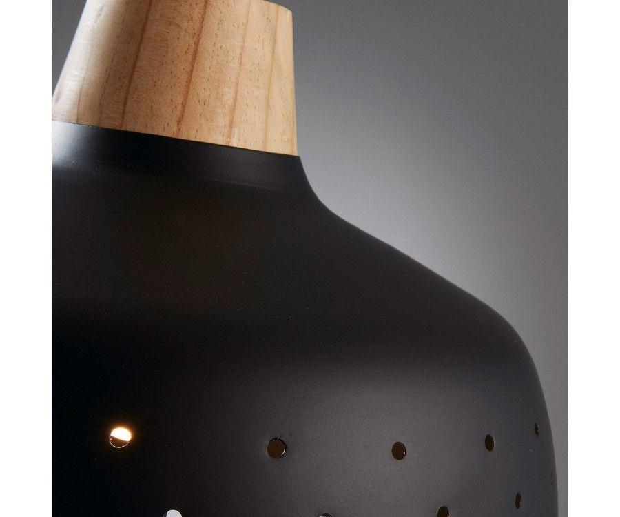 Lampe suspendue métal noir style moderne GLOV