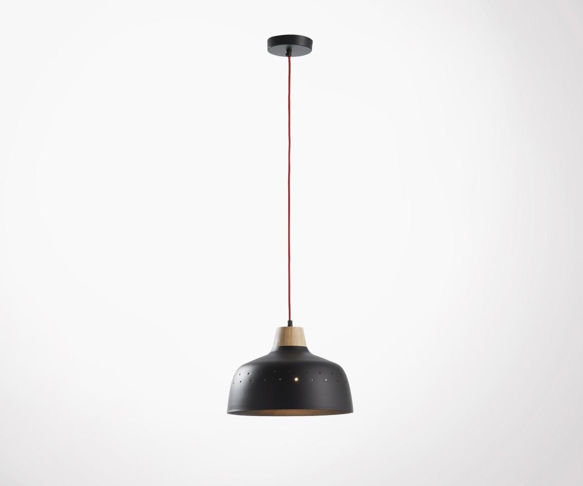 lampe suspendue m tal et bois 2 couleurs top design. Black Bedroom Furniture Sets. Home Design Ideas