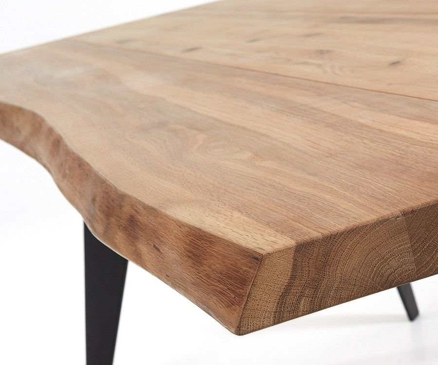 design 180cm dining table made of solid oak and iron feet. Black Bedroom Furniture Sets. Home Design Ideas