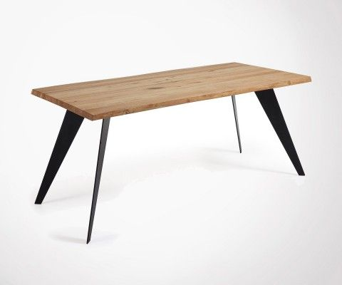 PROUV 180cm Design Dining Table With Metal Feet