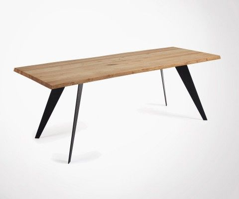 Grande table à manger 220cm chêne PROUV
