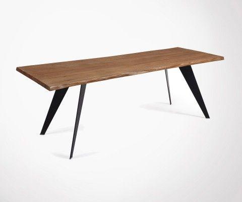 Grande table à manger 220cm chêne vieilli PROUV