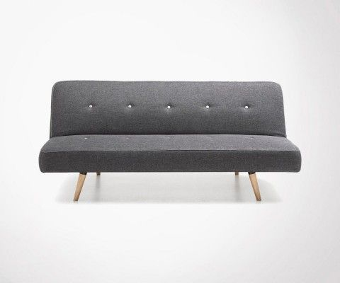 KARD 2 persons convertible grey design sofa - 180cm
