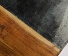 Planche à découper marbre vert et bois HUT