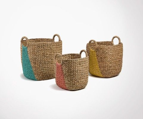 JACINTHE set of 3 color baskets