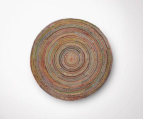 MYRSA multicolor round rug - 100cm