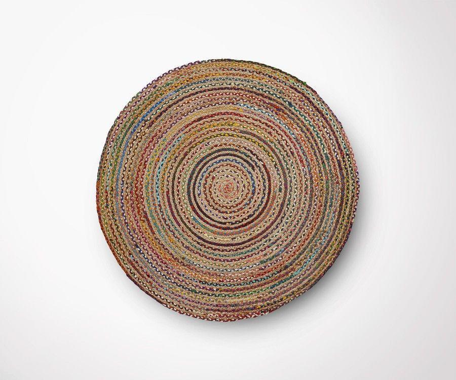 Tapis rond jute multicolor MYRSA - 100cm