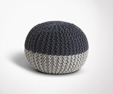 Pouf rond coton design NERCH - 50x35cm