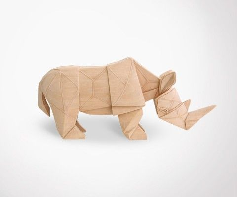 RHINO wood carved - 34cm