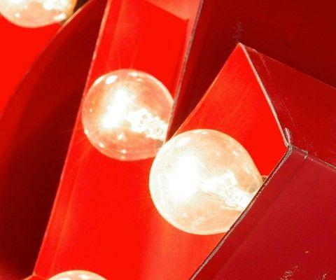 Applique murale métal rouge AMPER - 61cm
