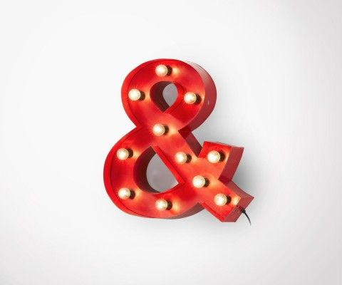 AMPER ampersand wall lamp - 61cm