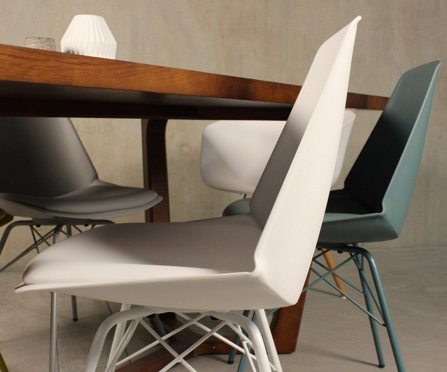 2 ANJI design chair with metal feet