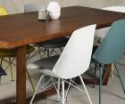 Set Of 4 Metal Base Design Dining Chair Padded Seat ANJI