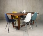 Set Of 4 Metal Base Design Dining Chair Padded Seat ANJI
