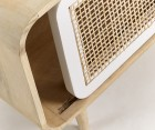 Meuble TV bois porte cannage ALDINE - 120x50cm