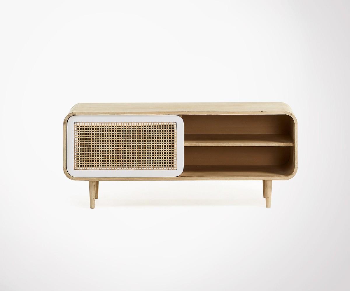 Mango wood design TV unit natural and ethnic look