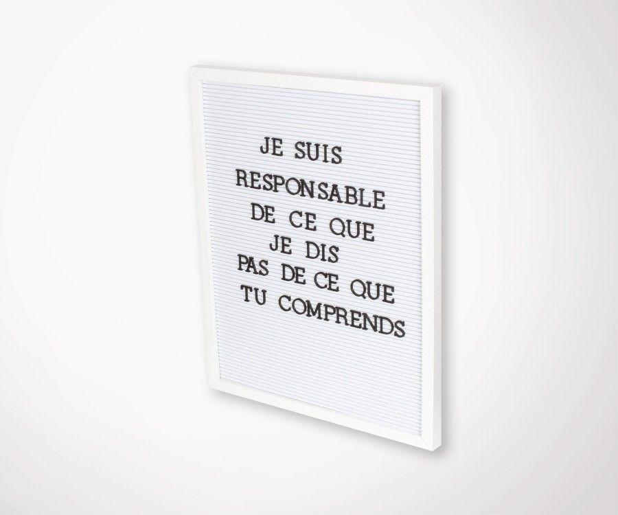 Tableau d'affichage SCRIPT - 40x50cm