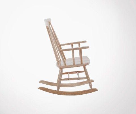 Chaise à bascule bois WEGNA