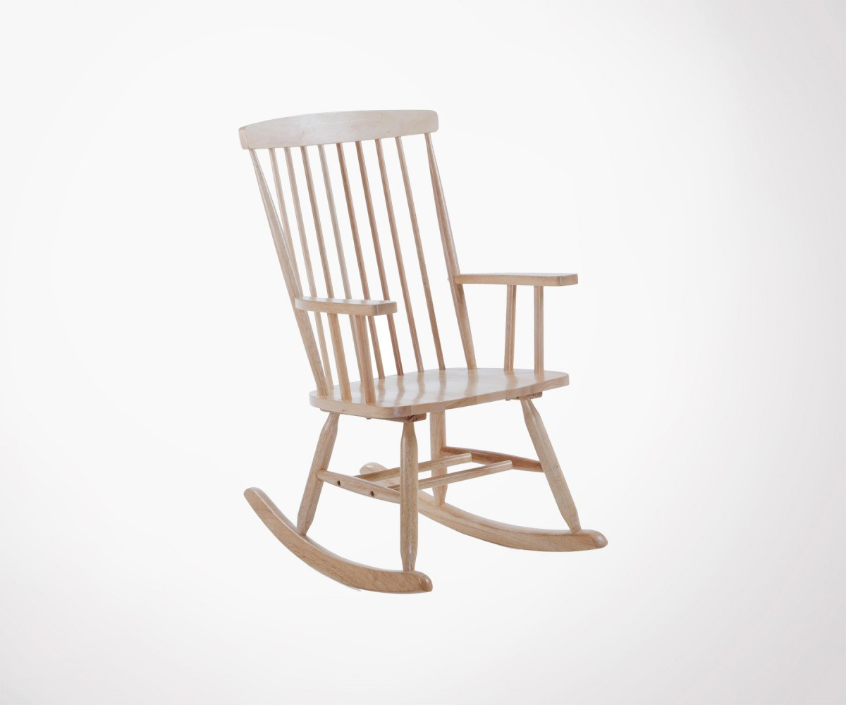 Wooden rocking chair 2 colors farm style for Chaise a bascule