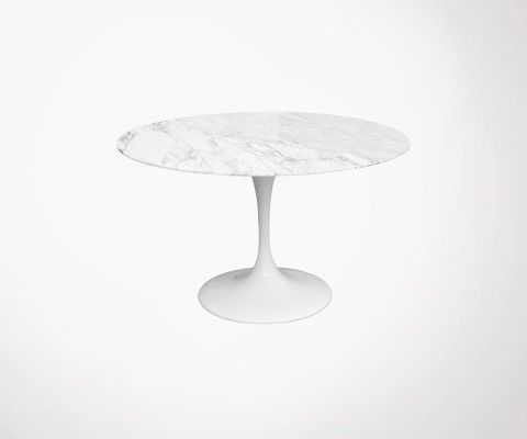 FLOWER-TULIP marble dining table - 80cm