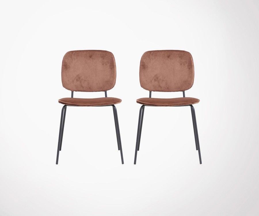 2 COMMA velvet design dining chair - House Doctor