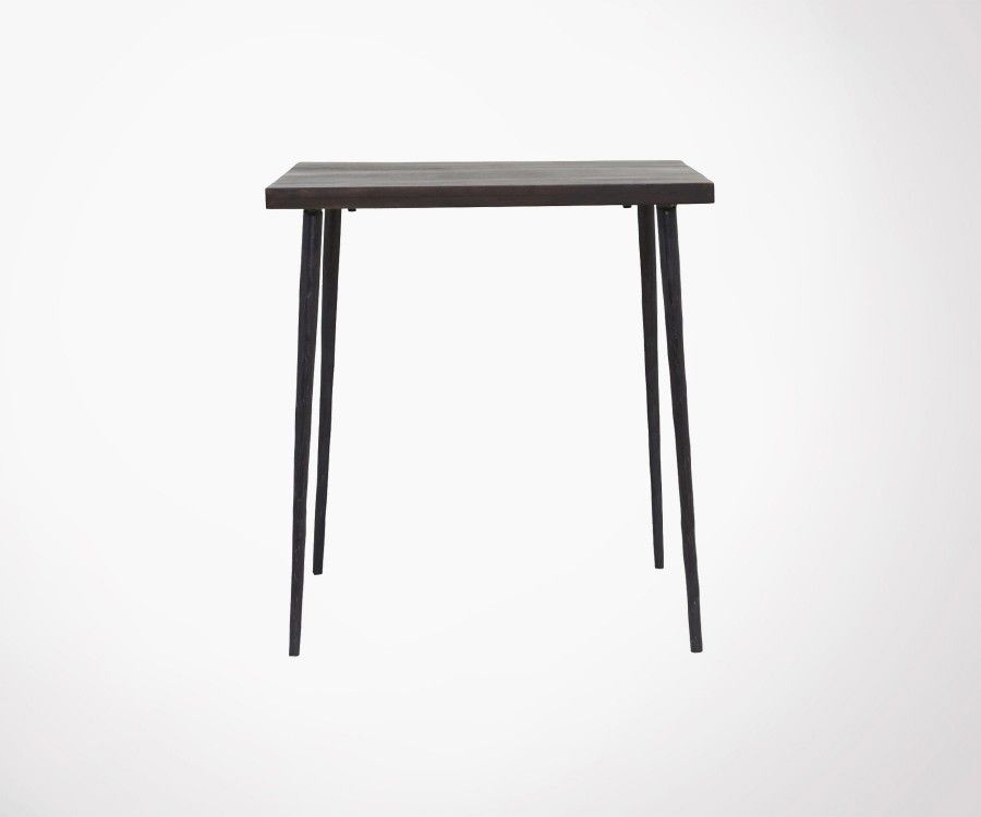 Table design carrée bois métal 70cm QUARA - House Doctor