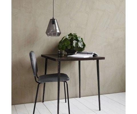 Table design carrée bois métal 70cm QUARA - House Doctor