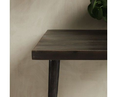 QUARA metal wood square dining table - House Doctor