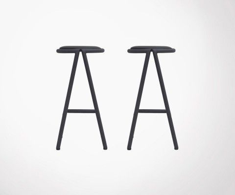 Set of 2 metal design bar stool VIGGO - House Doctor