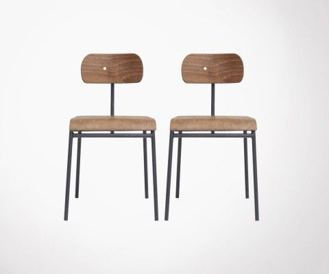 HOOL wood and metal inspired school chair - House Doctor