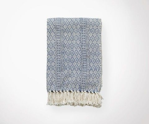 ETHNIC Blue Blanket - 130x180 cm