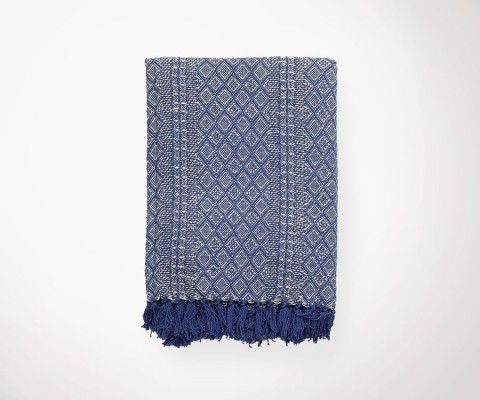 ETHNIC Dark Blue Blanket - 130x180 cm