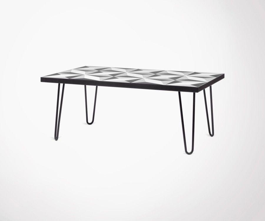 table basse metal noir. Black Bedroom Furniture Sets. Home Design Ideas