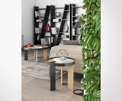 BRUNO wooden side design table - 50cm