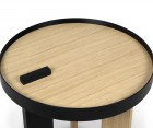 BRUNO wooden side design table - 50cm