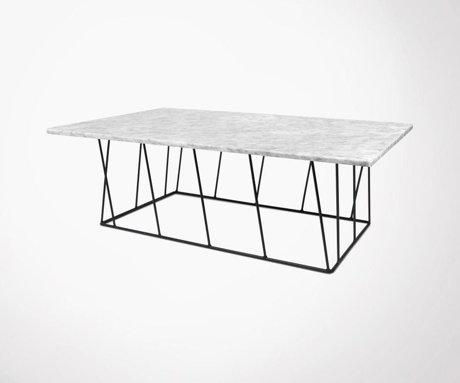 Large Coffee Table Marble Top Black White Highly Made By Temahome