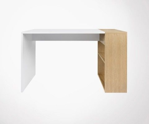 Desk 120cm wood modern and functional style HARBOR