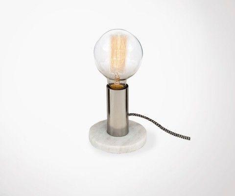 Lampe de bureau ALTON - marbre blanc