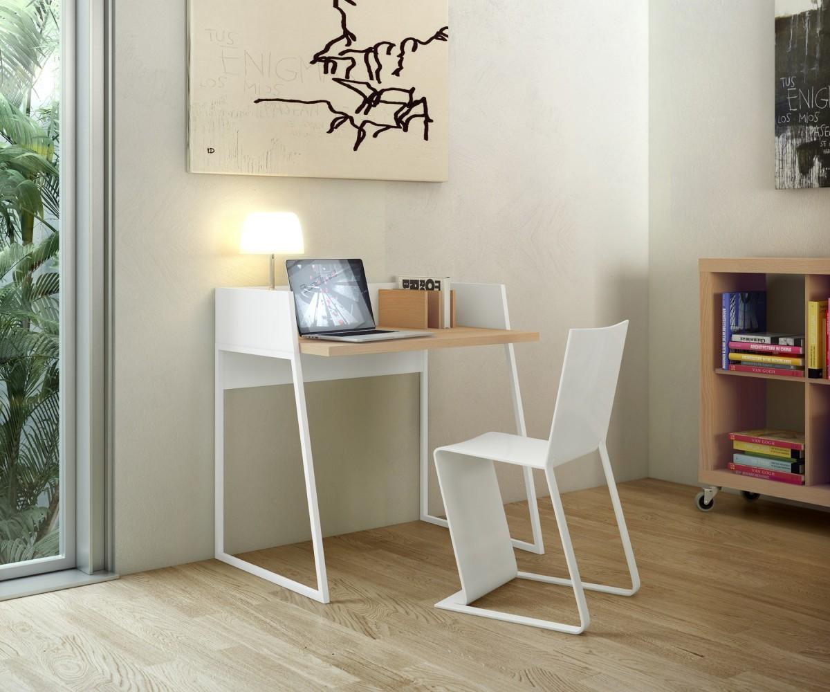 Petit bureau scandinave design 90cm bois métal Temahome
