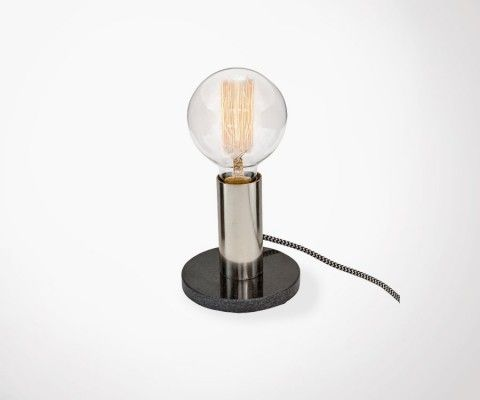 Lampadaire blanc et bois pour rétro conceptions de génial