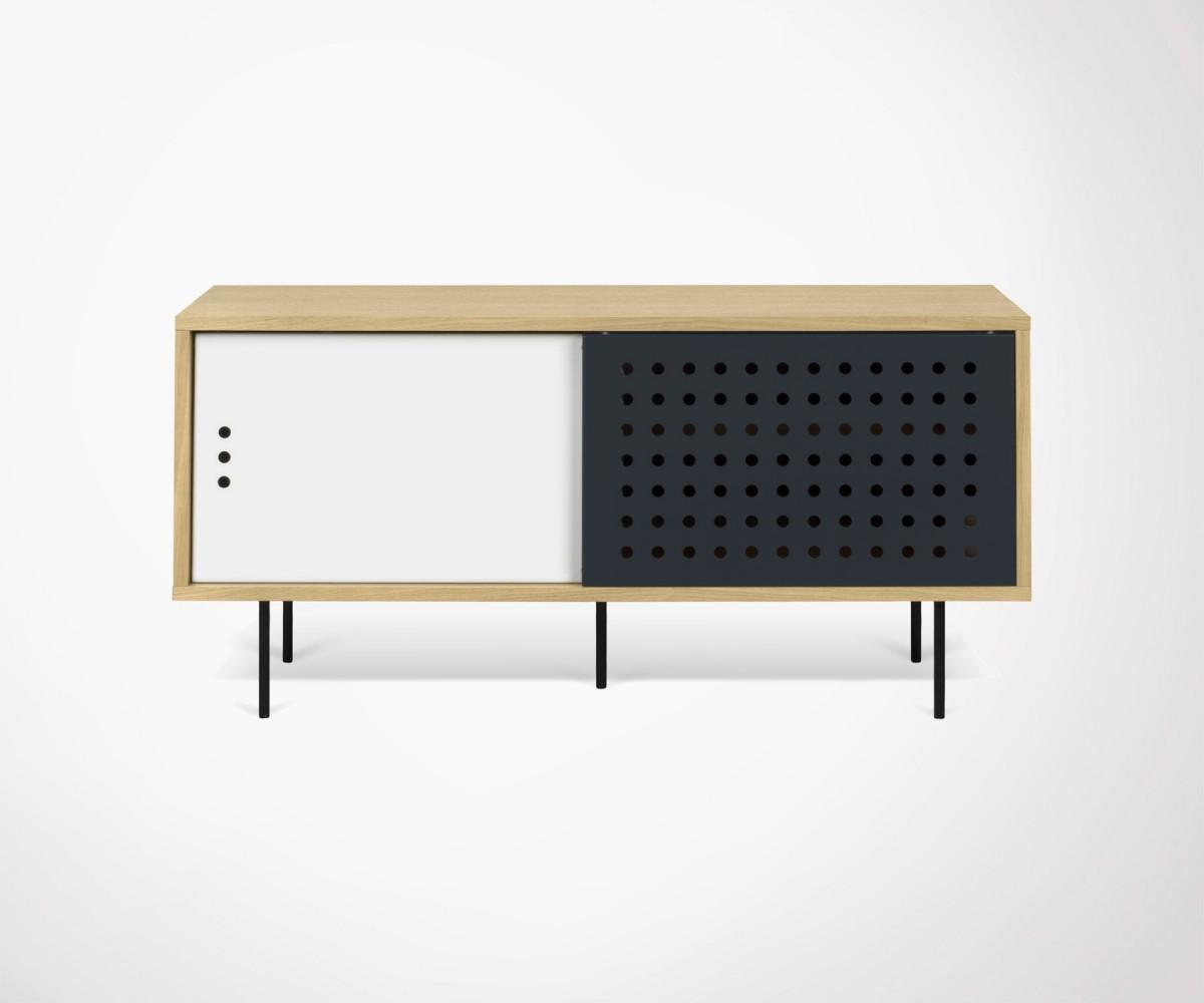 Petite Enfilade Meuble Tv Design Scandinave 135cm Bois M Tal Temahome # Meuble Tv Petite Profondeur