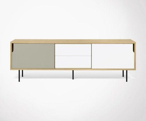 Grande enfilade design avec tiroirs DANN - 201cm